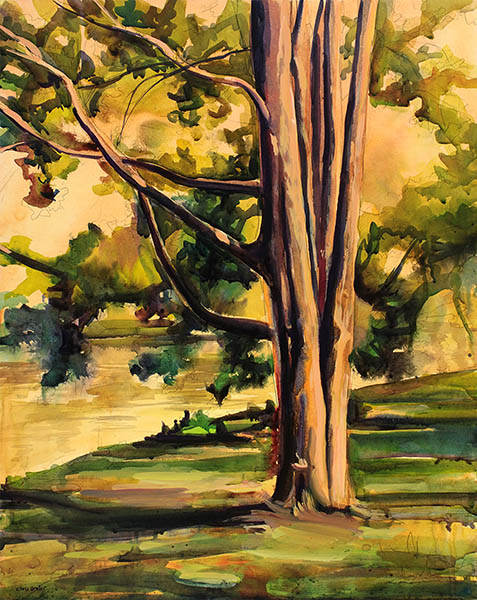 Acrylic painting of a tree.