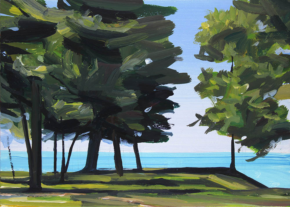 A painting of Lake Ontario