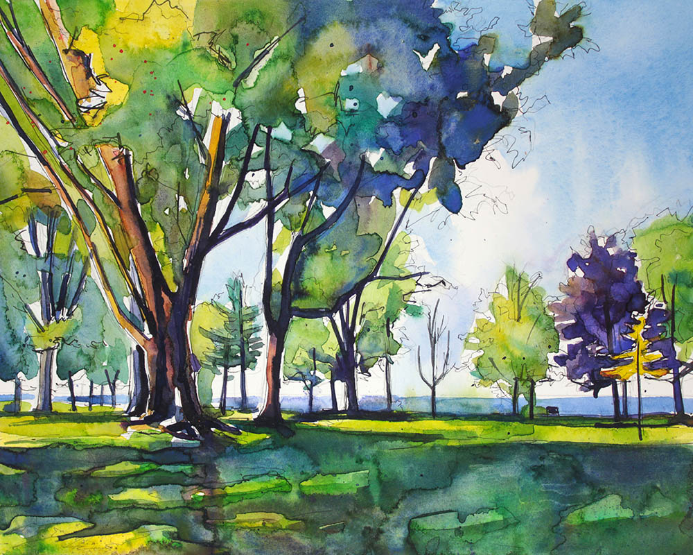 A painting of Krull Park