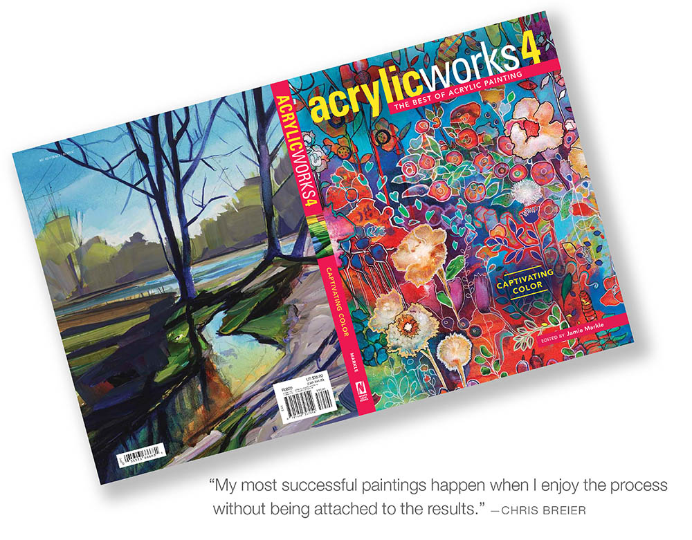 The front and back cover of acrylic works 4