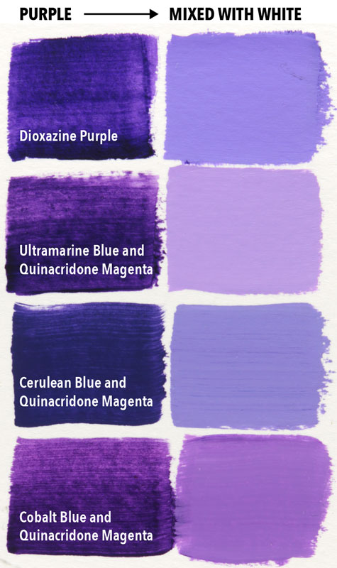 Magenta Is The Secret To Mixing Purple Page 3 Of 3 Draw And Paint For Fun