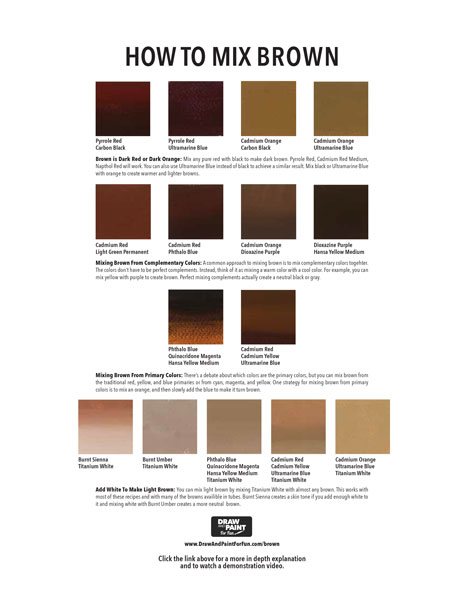 What Colors Make Brown The Ultimate Guide To Mixing Brown